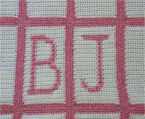 Crocheting Letters On A Blanket : Letters Crochet Blanket http://www.mimishome.net/crochet_projects.html