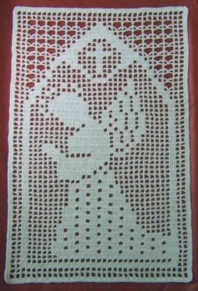 ANGEL Filet DOILY//AFGHAN Crochet Pattern